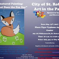 Kids Art in the Park &quotWhat does the Fox say&quot