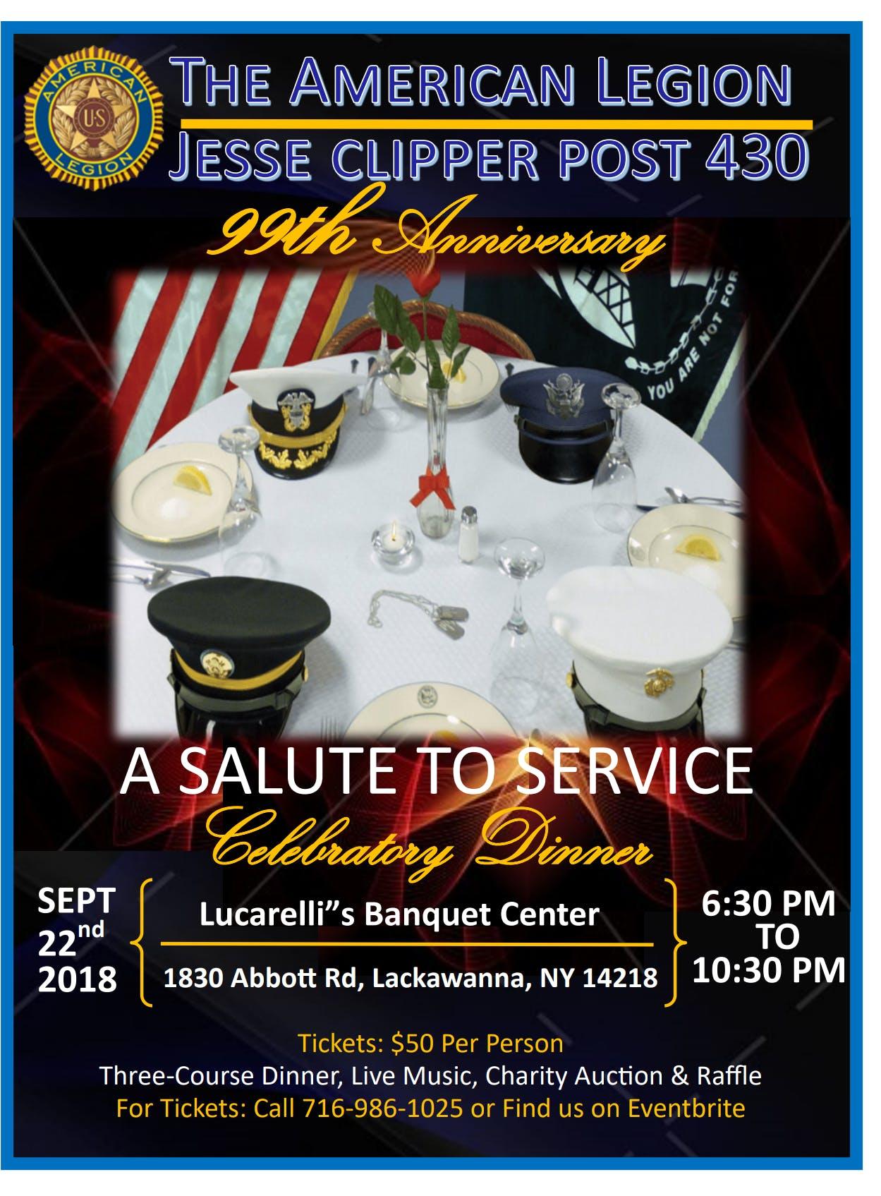 Jesse Clipper Post 430 99th Anniversary Dinner at Lucarelli\'s ...