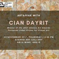 ArtSpeak with Cian Dayrit