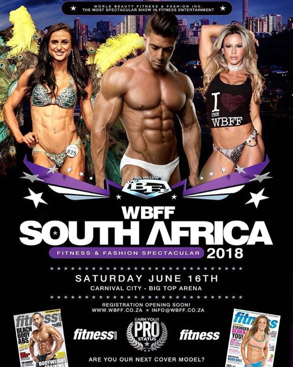 2018 WBFF South Africa June 16th at Carnival City - Big Top Arena