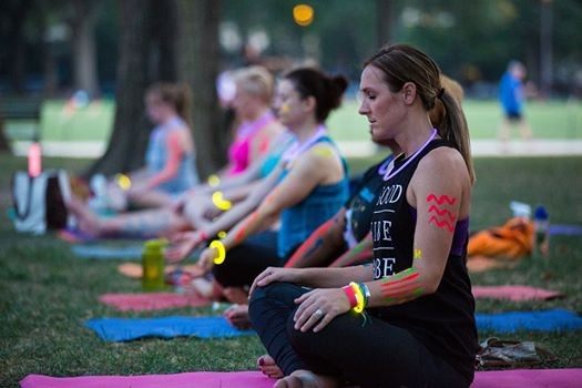 Image result for glow yoga on the mall photos