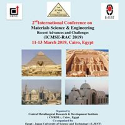 Inter Conf Mater Sci Eng , Cairo 11-13 March 2019