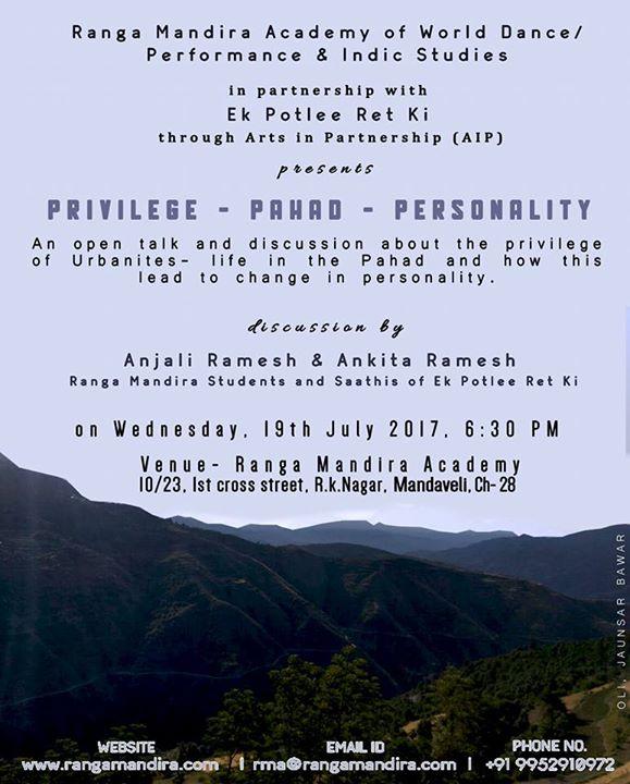 Privilege - Pahad - Personality
