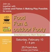 Food Fun and outdoor Footy