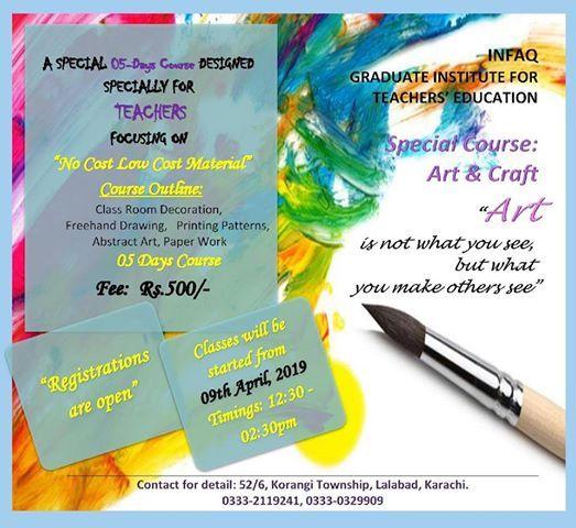IGITE - 05 Days Special Course - Art & Craft