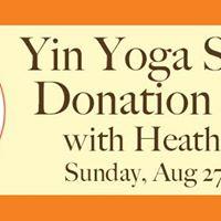 Yin Yoga Donation Class for SNAP