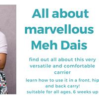 Marvellous Meh Dais Workshop June 6th 14.15pm
