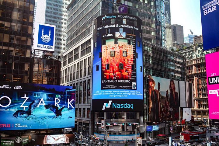 Santiago Ribeiro and Surrealism Now at Times Square