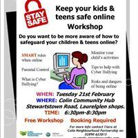 Keeping Your Kids &amp Teens Safe Online - Workshop for Parents