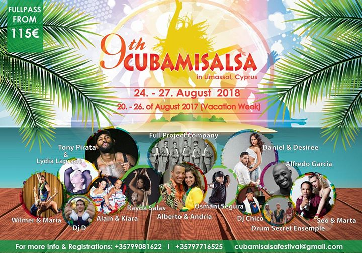 Israel is going to 9th CubaMiSalsa Festival In Cyprus 2018