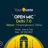 YourQuote Open Mic Delhi 7.0