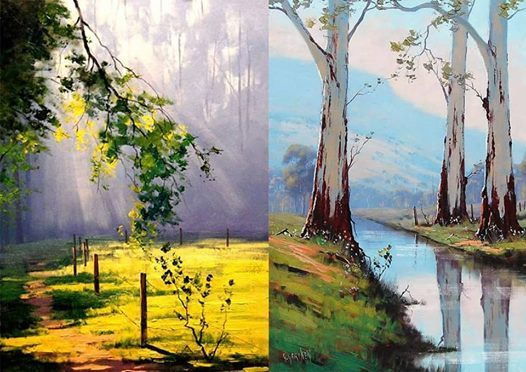 Landscape Oil Painting  Beginner workshop in Bangalore