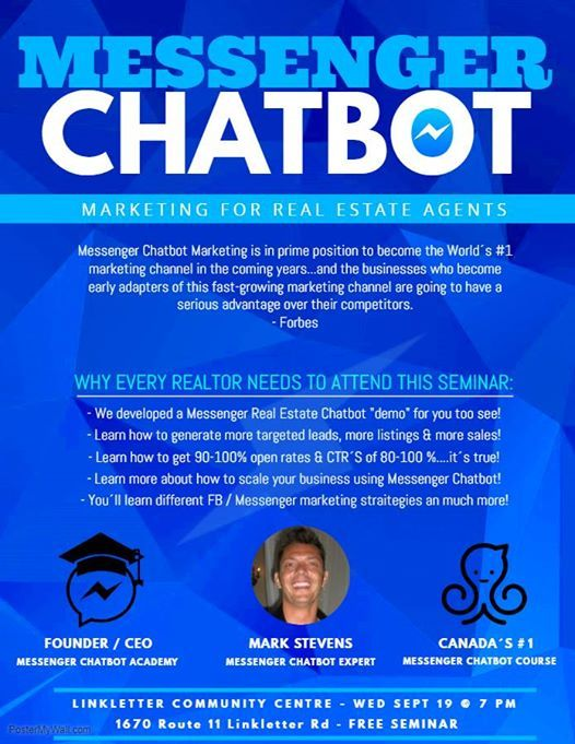 Messenger Chatbots For Real Estate Agents Summerside (PEI) at