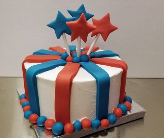 Swell Kids Camp Fourth Of July Cake At Over The Top Cake Supplies San Funny Birthday Cards Online Elaedamsfinfo