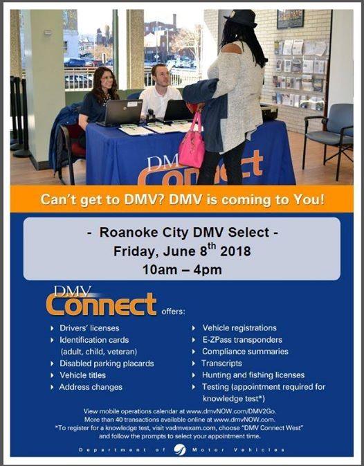 DMV Connect - Roanoke Municipal Building at Roanoke City Treasurer