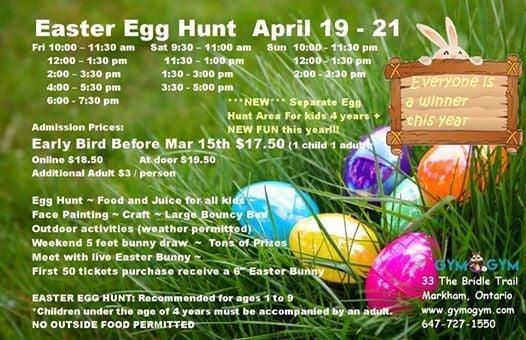 Markham 6th Annual Easter Egg Hunt