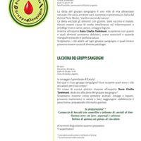 Conferenza cucina gruppi sanguigni