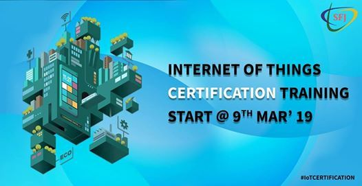 IoT Training Batch is going to start 9 Mar