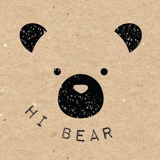 Hi bear greeting cards stationery and wall art at little lambs hi bear greeting cards stationery and wall art m4hsunfo