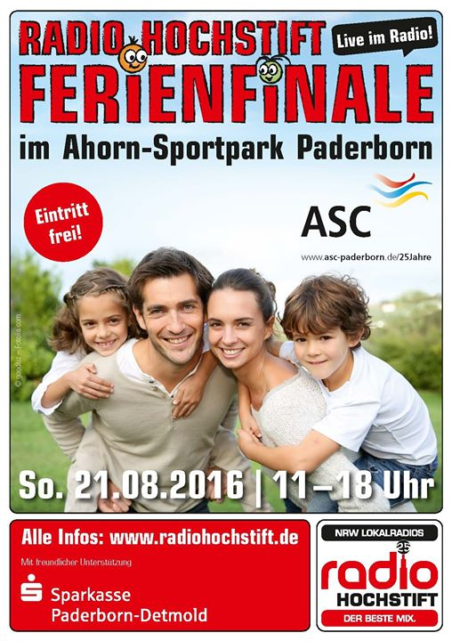 dlrg paderborn radio hochstift ferienfinale 2016 at ahorn sportpark paderborn. Black Bedroom Furniture Sets. Home Design Ideas