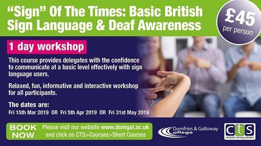 Sign Of The Times Basic British Sign Language & Deaf Awareness