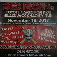 Red Iron Coyote Cares for Kids Blackjack Charity Run