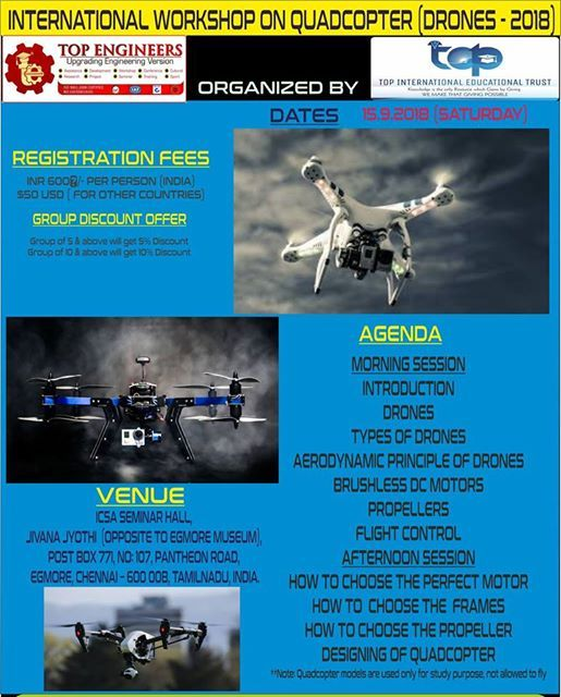 International Workshop on Quadcopter (drones - 2018)