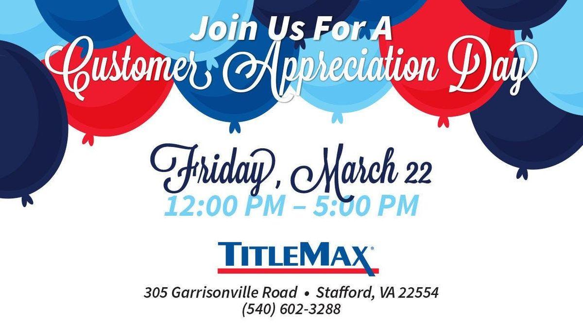 Customer Appreciation Day at TitleMax Stafford VA