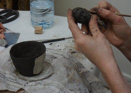 Initiation Cramique modelage engobes cuisson et patines