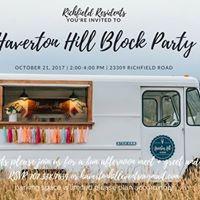 Haverton Hill Block Party richfield residents