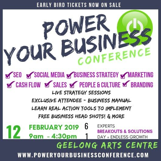 Power Your Business- National Roadshow Conference - Geelong
