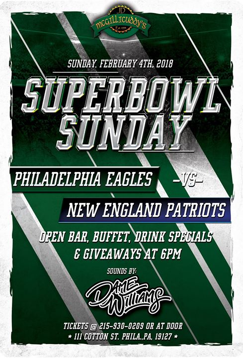 Super Bowl at JD McGillicuddys Manayunk