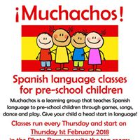 Muchachos Spanish language class for pre-school children