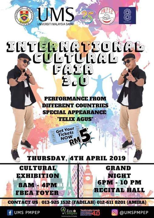 International Cultural Fair 3 0 Ums At Universiti Malaysia