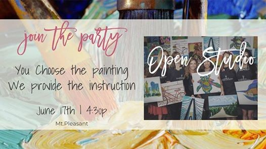 All Ages Guided Painting Class Open Studio At Wine Design Mount