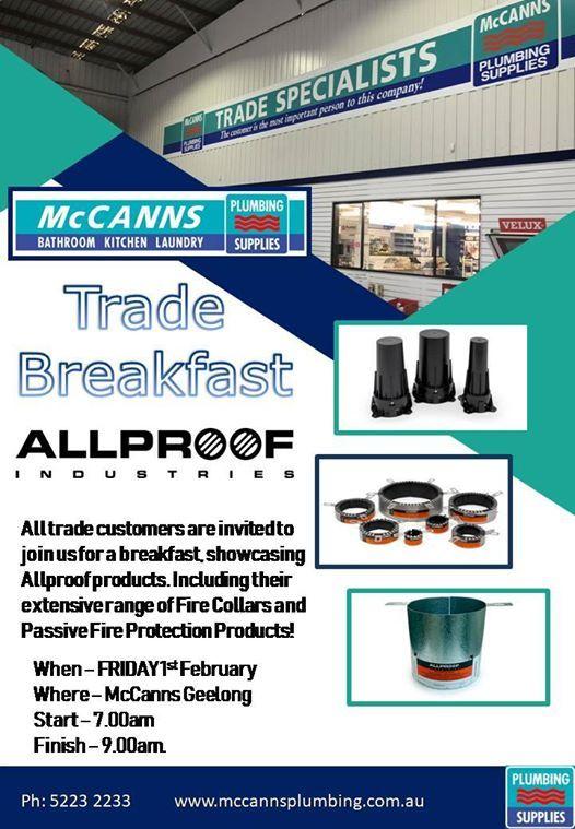 Allproof Trade Breakfast