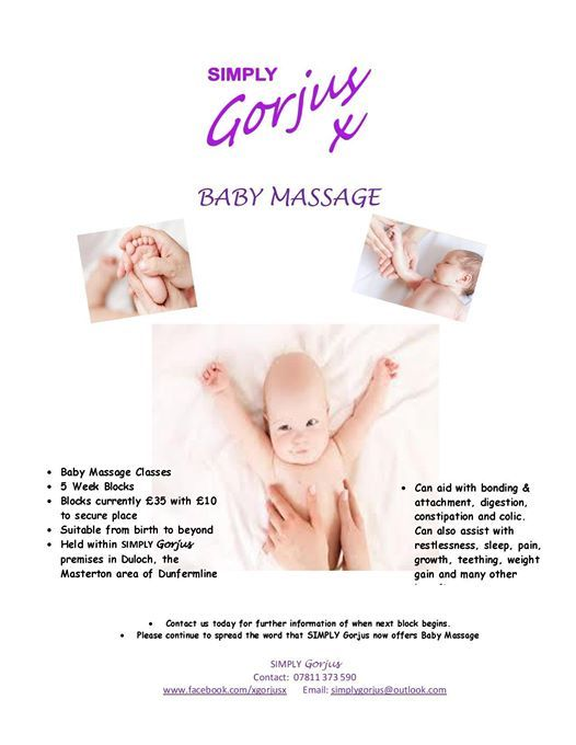 Baby Massage 5 Week Block Classes