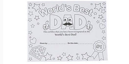 free best dad certificate at unicorn cupcake boutique scottsdale