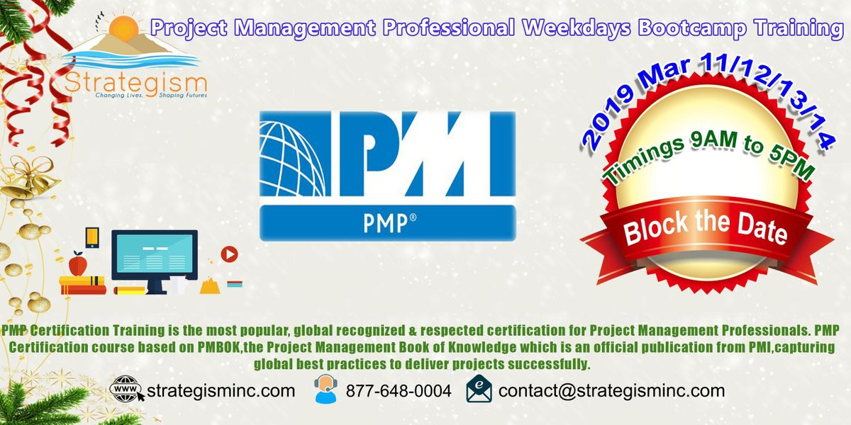 Pmp Weekdays Bootcamp For Redwood City Mar 111213142019 At