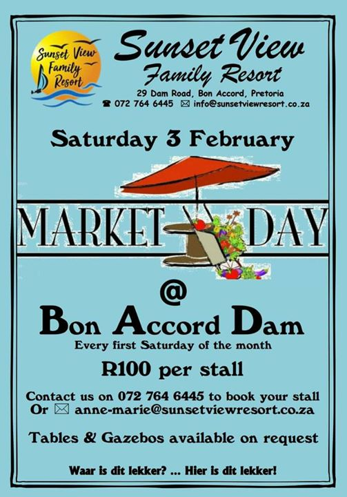 Sunset View Market Bon Accord Dam Pretoria