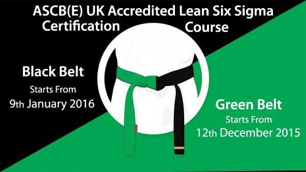 uk accredited lean six sigma green belt and black belt training at ...