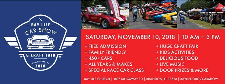 Tampa Kids Camp Booth At Bay Life Car Show Florida - Car show brandon fl