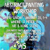 January Abstract Painting Workshop with Patti Agapi