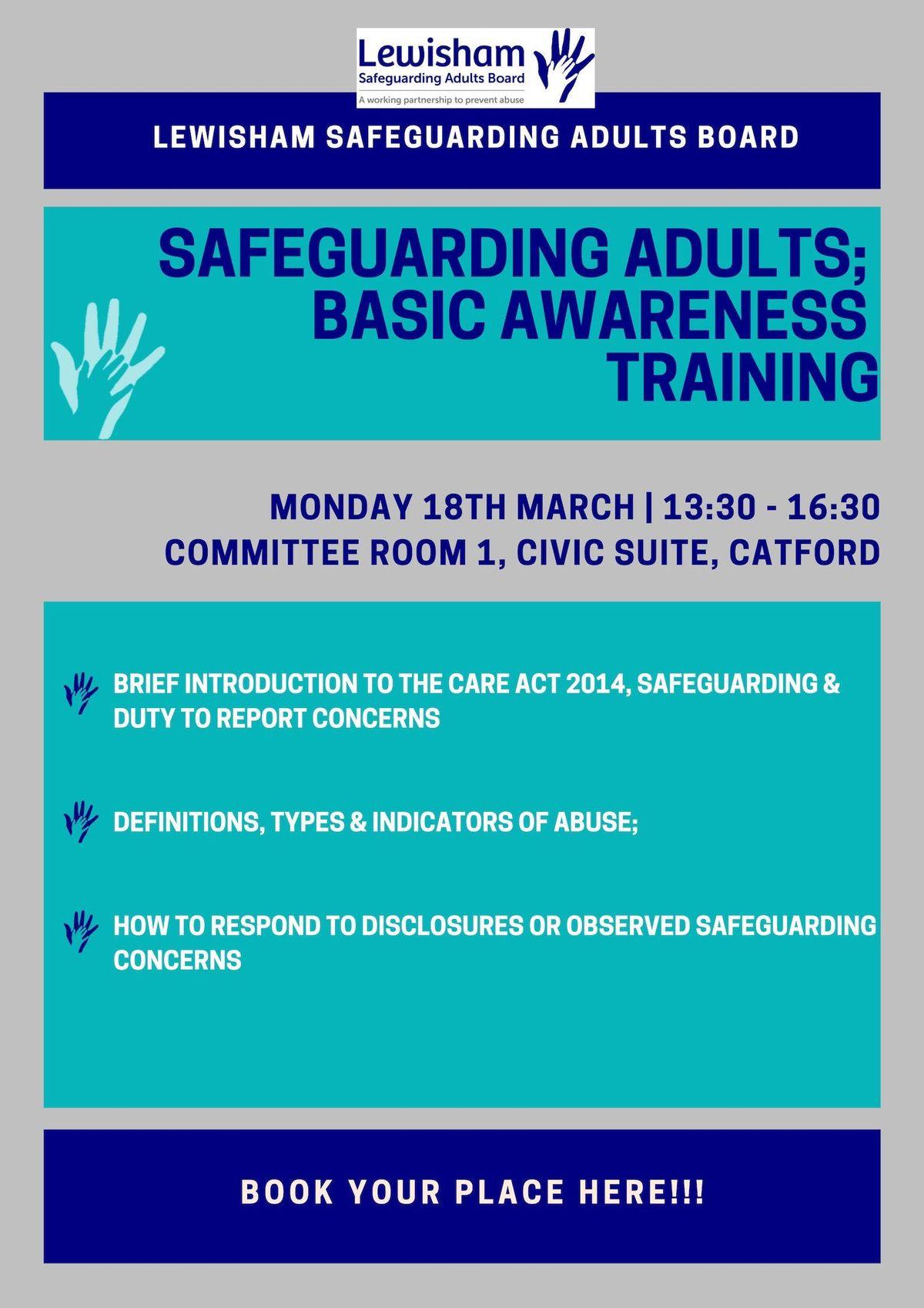 Safeguarding Adults Basic Awareness Training