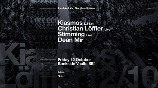 Kiasmos Christian Loffler Live & Stimming Live in London