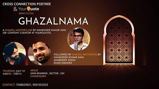 Ghazalnama YQ Masterclass and Recital with CCP