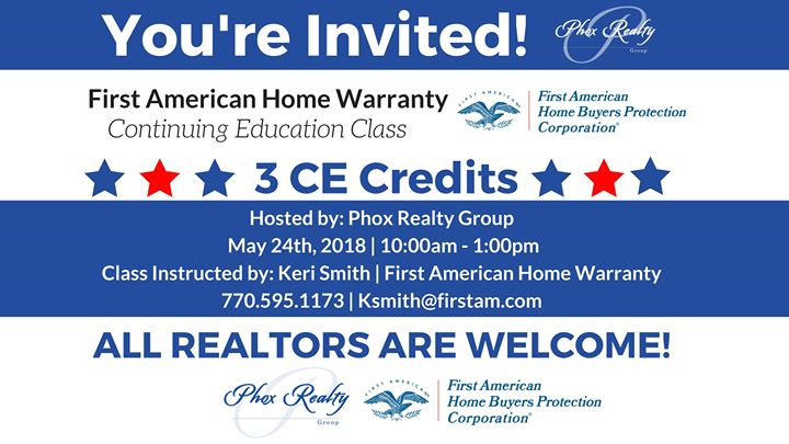 First American Home Warranty Ce Class For Realtors At Phox Realty