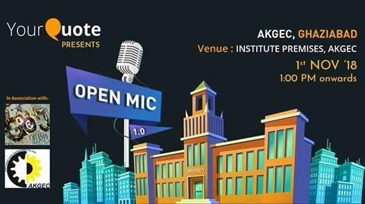 YourQuote Open Mic AKGEC 1.0