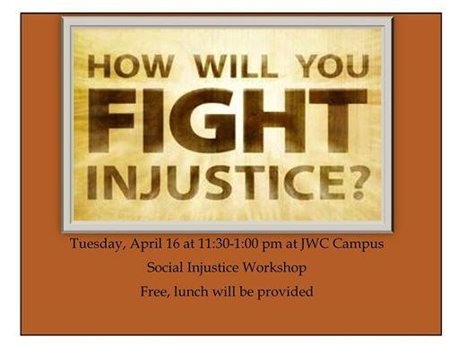 Workshop 95 Addressing Students >> Addressing Social Injustices Workshop At John Witherspoon College