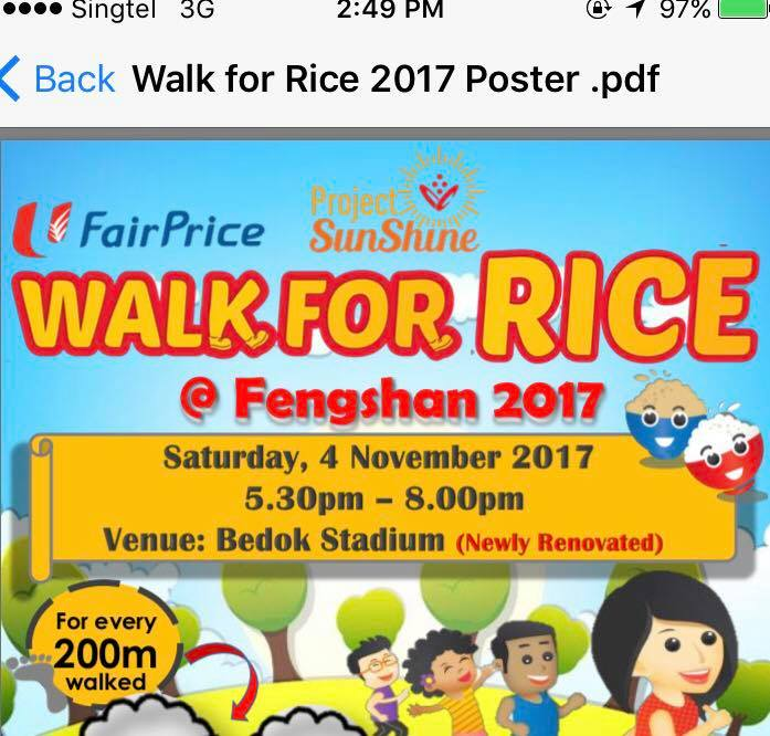 Walk for rice 2017